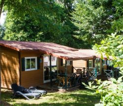 Chalet en bois Country Lodge - Camping La Grande Tortue